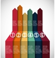 Business infographic design vector image