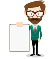 Businessman with blank poster vector image vector image