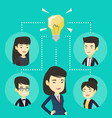 businessmen discussing business ideas vector image vector image