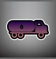 car transports oil sign violet gradient vector image vector image