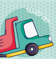 cargo truck over colorful background vector image