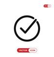 check mark icon correcttick symbol vector image vector image