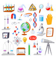 chemistry chemical science or pharmacy vector image