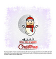 christmas card with elegant design vector image