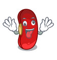 crazy red beans pile isolated on mascot vector image vector image