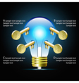 Creative light bulb idea infographic vector image vector image