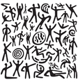 dancing people - doodles set vector image vector image