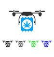 drone cannabis delivery flat icon vector image vector image