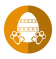easter egg with bunny paw shadow vector image vector image