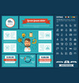 education flat design infographic template vector image