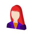 Female avatar symbol flat isometric icon or logo