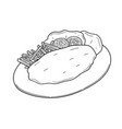 fish and chips vector image vector image