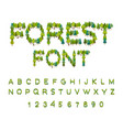 forest font tree alphabet letter from tree nature vector image vector image