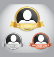 Icons of users with different rank vector image vector image