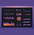 infographic dashboard trading platform with vector image vector image
