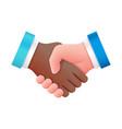 international business people handshake icon vector image