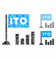 ito bar chart composition icon tremulant pieces vector image vector image