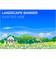 Landscape background banner vector image vector image