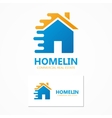 logo house in motion vector image vector image