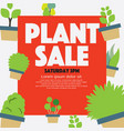 marketing for festival selling trees sales vector image vector image