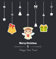 merry christmas greeting card merry christmas vector image vector image