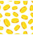 money coins seamless pattern background business vector image