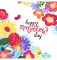 mother s day greeting card mother s day vector image