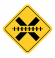no barrier railway cross traffic sign vector image vector image