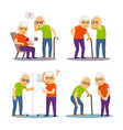 old man and woman sick old mens womens disease vector image vector image