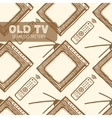 Old TV seamless pattern vector image vector image