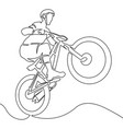 one continuous line bicycle racer sportsman vector image