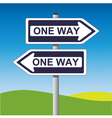 one way sign vector image vector image