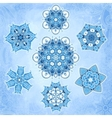 Ornate snowflakes set vector image