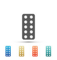 pills in blister pack icon on white background vector image