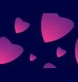 pink heart love seamless pattern wallpaper vector image