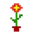 pixel flowers art cartoon retro game style vector image vector image