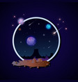 realistic and futuristic space backgroundin frame vector image
