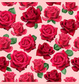 realistic red roses pattern vector image