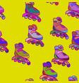roller skates seamless pattern outline decorative vector image