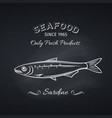 sardine icon badge fish vector image vector image