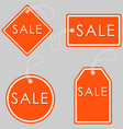 set of bright orange-white sale banners label and vector image vector image