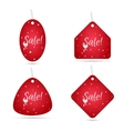 Set of four festive stickers for sale vector image