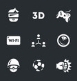 set of video games icons vector image vector image
