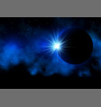 solar eclipse background vector image vector image
