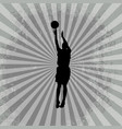 sport with basketball player vector image vector image