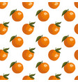 summer pattern with oranges seamless texture vector image vector image