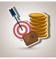 target money cash vector image vector image