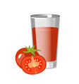 tomatoes juice with tomatoes branch vector image vector image