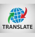 translation banner vector image vector image