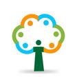 tree people abstract icon vector image vector image